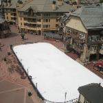 The ice skating rink in Beaver Creek