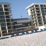 ocean towers from beach