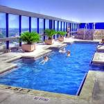 The rooftop pool on Floor 20