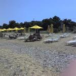 beach umbrellas run by the 9 muses next door