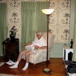 Relaxing in Hannah's room