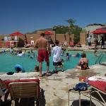 The pool was small & crowded