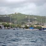 The quay and cliffs of St Croix