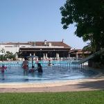piscine chauffée avec toboggan