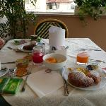 Breakfast at hotel