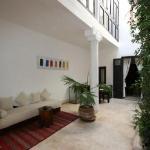 Le patio privé de Bamako notre chambre