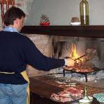 Our host grilling bistecca fiorentina. Magnifico