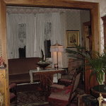 The living room and parlor