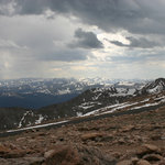 On top of Mount Evans in June