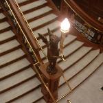 The staircase cherub.