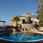 The Pool and terraces - Swimming 700 feet above the Aegean Sea.