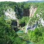The Plitvice Lakes from above