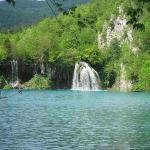 The Plitvice Lakes from shore