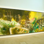 Not a great shot of this large painting, Watchman, What of the Night?  by Matta