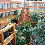 This is the inside of the Hotel, all covered
