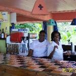 Poolside bar with Yvette and Ivy