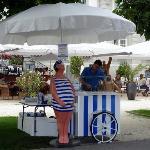 ice cream vendor on the promenade
