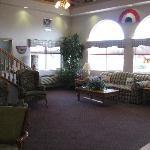 Bright sun-lit lobby