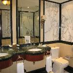 nice sized marble bathroom