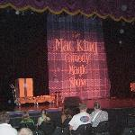 The stage at the Mac King Comedy Magic Show