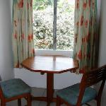 Store Bay Holiday Resort - little dining area in our single room