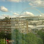 View of Wembley from hotel window