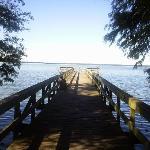 Short boardwalk/fishing area