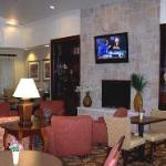 Hotel lobby (panoramic) - yes, that's Larry King on the tv!