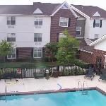 Hotel pool (panoramic)