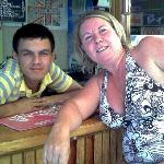 Hakon & my mate Marion