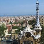 The view of Barcelona from Park Guel
