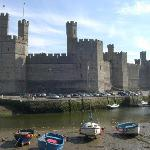 Caernarfon castle - hopefully the tide will be in while you're there!