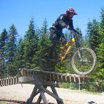 Stunt at Whistler Mt Bike park