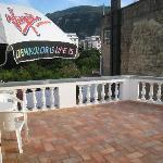 Great balcony, huge..
