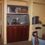 Dvorak Suite kitchenette