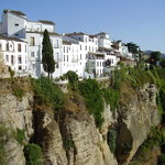 white houses on the cliffs