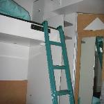 The bunked beds, and the lofted one is on the right.