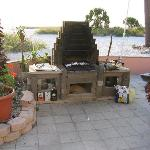 nice barbeque pit on beach