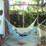 Relax in the hammocks.