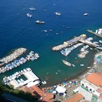 View of the Marina Grande from our room