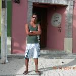 En la entrada de la Posada
