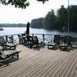 deck overlooking the lake