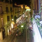 main street from our balcony