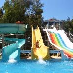 Waterslides at the Annexe