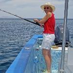 Shawn fishing for Dorado
