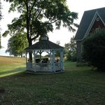 Closer view of Lower Gazebo and Lake Ontario