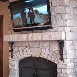 Brand new electronics and fireplace