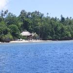 Cha cha resort from boat