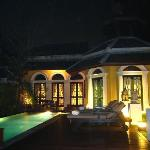 The back of our villa & the pool area