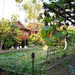 A villa amidst well manicured farm land.